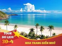 TOUR 30/4 : NHA TRANG  – TẮM BÙN - TẶNG VÉ VINPEARLAND 6